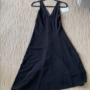 Theory black Tadayon crepe dress size 00